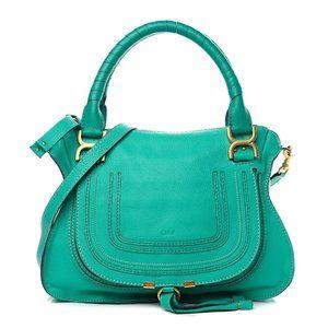 AUTHENTIC CHLOE Green JADE  Marcie Medium Tote Bag